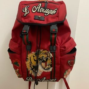 Gucci Embroidered Backpack
